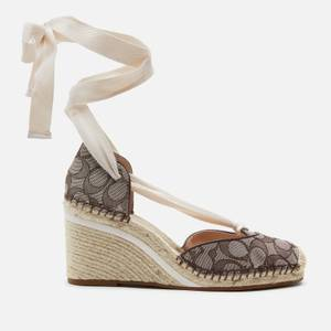 Coach Women's Carmen Jacquard Wedged Espadrilles - Oak