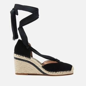 Coach Women's Carmen Suede Wedged Espadrilles - Black
