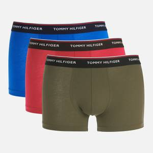 Tommy Hilfiger Men's 3 Pack Trunks - Electric Blue/Red Carmine/Army Green