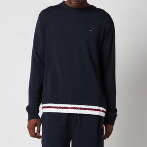 Tommy Hilfiger Men's Contrast Rib Sweatshirt - Desert Sky