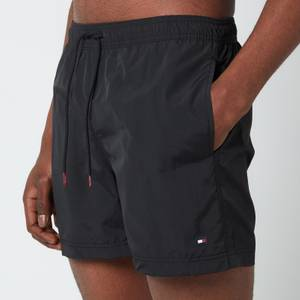 Tommy Hilfiger Men's Medium Length Drawstring Swimshorts - Black