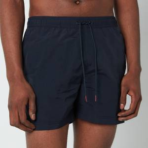 Tommy Hilfiger Men's Medium Length Drawstring Swimshorts - Desert Sky