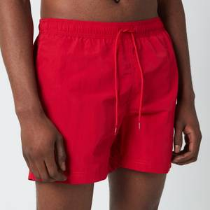 Tommy Hilfiger Men's Medium Length Drawstring Swimshorts - Primary Red