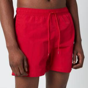 Tommy Hilfiger Men's Medium Length Drawstring Swimshorts - Primary Red
