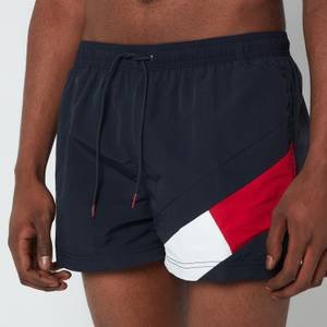 Tommy Hilfiger Men's Short Length Drawstring Swimshorts - Desert Sky