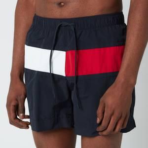 Tommy Hilfiger Men's Big Flag Medium Length Drawstring Swimshorts - Desert Sky