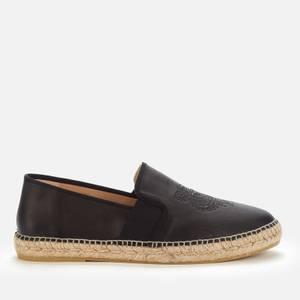 KENZO Men's Elastic Leather Tiger Espadrilles - Black