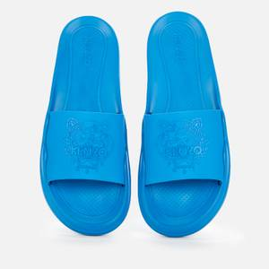 KENZO Men's Tiger Pool Slide Sandals - Cyan