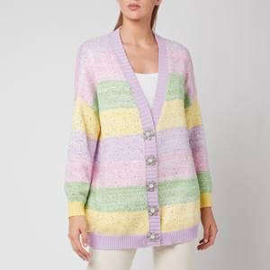 Olivia Rubin Women's Mika Sequin Stripe Cardigan - Pastel Stripe