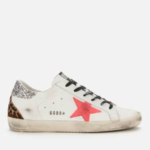 Golden Goose Deluxe Brand Women's Superstar Leather Trainers - White/Fuchsia/Silver