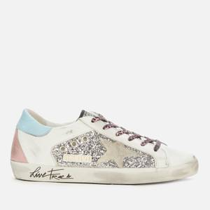 Golden Goose Deluxe Brand Women's Superstar Leather Trainers - Silver/White/Ice