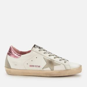 Golden Goose Deluxe Brand Women's Superstar Leather Trainers - White/Ice/Pink