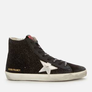 Golden Goose Deluxe Brand Women's Francy Leather Hi-Top Trainers - Black/Silver