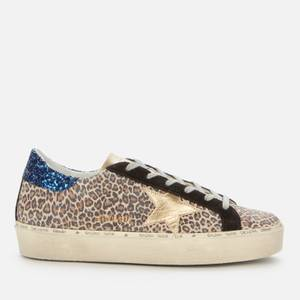 Golden Goose Deluxe Brand Women's Hi-Star Suede Flatform Trainers - Brown Leopard/Gold