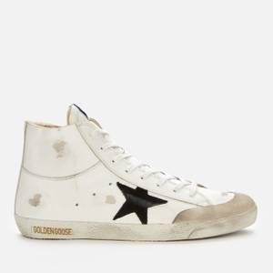 Golden Goose Deluxe Brand Men's Francy Leather Hi-Top Trainers - White/Black/Ice
