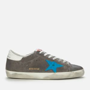 Golden Goose Deluxe Brand Men's Superstar Suede Trainers - Grey/Turquoise