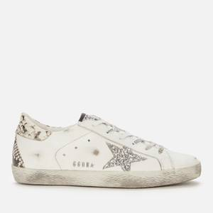 Golden Goose Deluxe Brand Women's Superstar Leather Trainers - White/Silver/Rock Snake