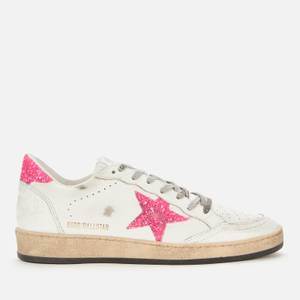 Golden Goose Deluxe Brand Women's Ball Star Leather Trainers - White/Pink Fluo