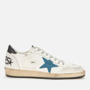 Golden Goose Deluxe Brand Men's Ball Star Leather Trainers - White/Blue Storm