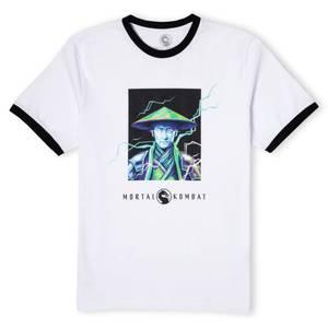 Mortal Kombat Raiden Unisex Ringer T-Shirt - White/Black