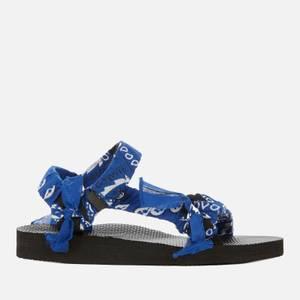 Arizona Love Women's Trekky Bandana Sandals - Cerulean