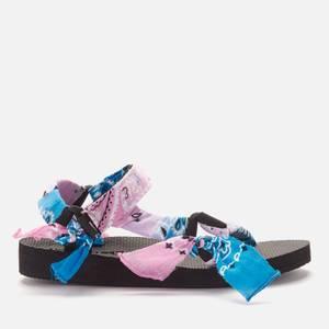 Arizona Love Women's Trekky Bandana Sandals - TDY Blue Pink