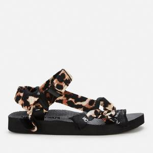 Arizona Love Women's Trekky Bandana Sandals - Leopard/Black