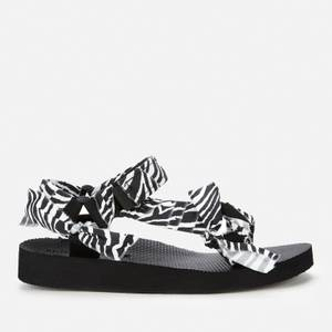 Arizona Love Women's Trekky Print Sandals - Zebra