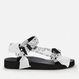 Arizona Love Women's Trekky Fabric Sandals - Vichy Black/White
