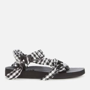 Arizona Love Women's Trekky Fabric Sandals - Vichy Black/White