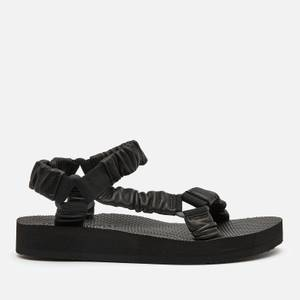 Arizona Love Women's Trekky Leather Sandals - Black