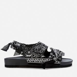 Arizona Love Women's Apache Bandana Sandals - Black