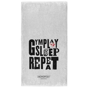 Monopoly Gym Play Sleep Repeat - Fitness Towel