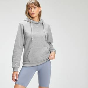 MP Women's Essentials Hoodie with Kangaroo Pocket - Grey Marl