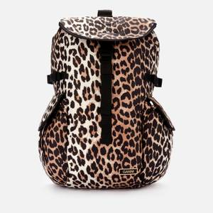 Ganni Women's Recycled Tech Backpack - Leopard