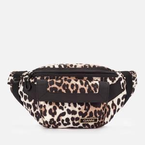 Ganni Women's Recycled Tech Fabric Hip Pack - Leopard