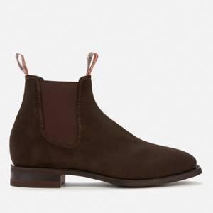 R.M. Williams Men's Comfort Craftsman Suede Chelsea Boots - Chocolate
