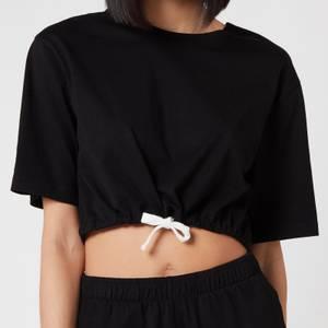 Les Girls Les Boys Women's Jersey Apparel Crop Top - Black