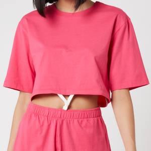Les Girls Les Boys Women's Jersey Apparel Crop Top - Raspberry