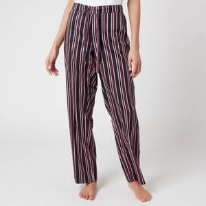 Les Girls Les Boys Women's Girls PJ Bottoms - Black Stripe