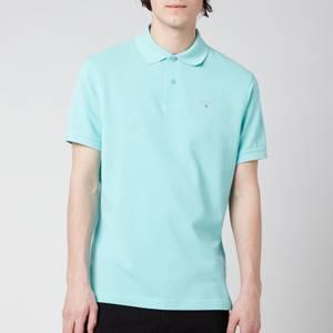Barbour Men's Tartan Pique Polo Shirt - Aqua Marine