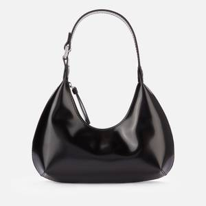 BY FAR Women's Baby Amber Semi Patent Bag - Black
