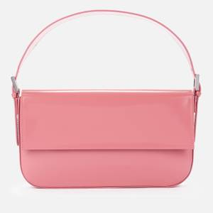 BY FAR Women's Manu Semi Patent Bag - Pink