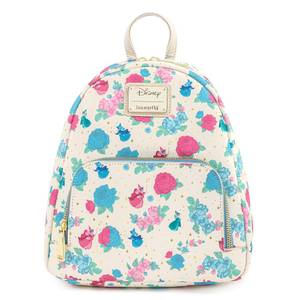Loungefly Disney Sleeping Beauty Floral Fairy Godmother AOP Mini Backpack