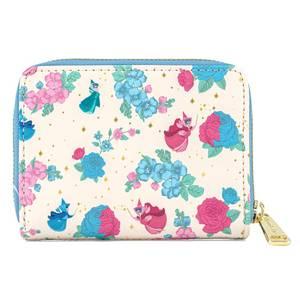 Loungefly Disney Sleeping Beauty Floral Fairy Godmother AOP Zip Around Wallet