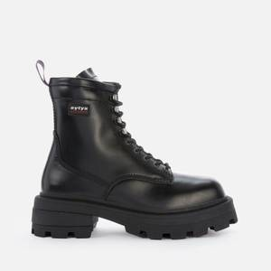 Eytys Men's Michigan Leather Lace Up Boots - Black
