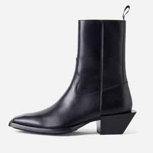 Eytys Luciano Leather Western Boots - Black