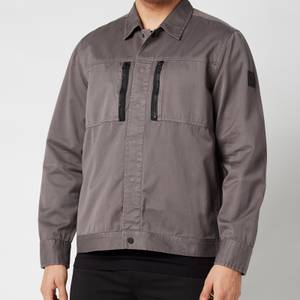 BOSS Casual Men's Lowy Overshirt - Dark Grey