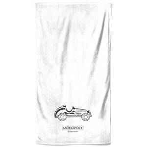 Monopoly Car Figure Bath Towel