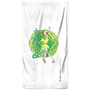 Rick and Morty Portal Bath Towel